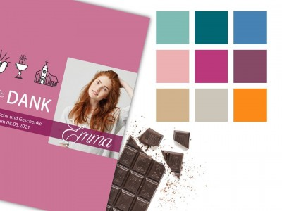 "Schokoladenbanderole ""Emma"" - 5"