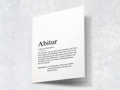 """Karte """"Abitur"""" Definition - 2"""