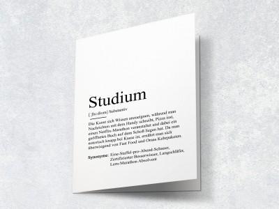 "Karte ""Studium"" Definition - 2"