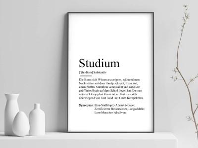 "Poster ""Studium"" Definition - 1"
