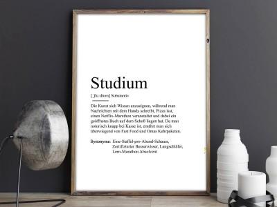 "Poster ""Studium"" Definition - 2"
