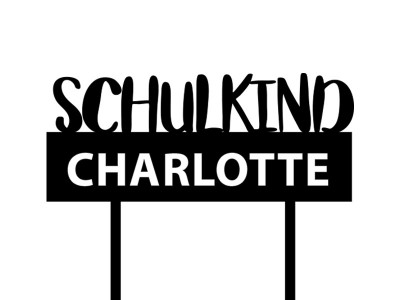 "Cake Topper ""Schulkind"" - 2"