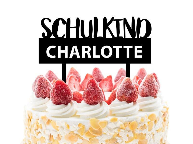 "Cake Topper ""Schulkind"" - 1"