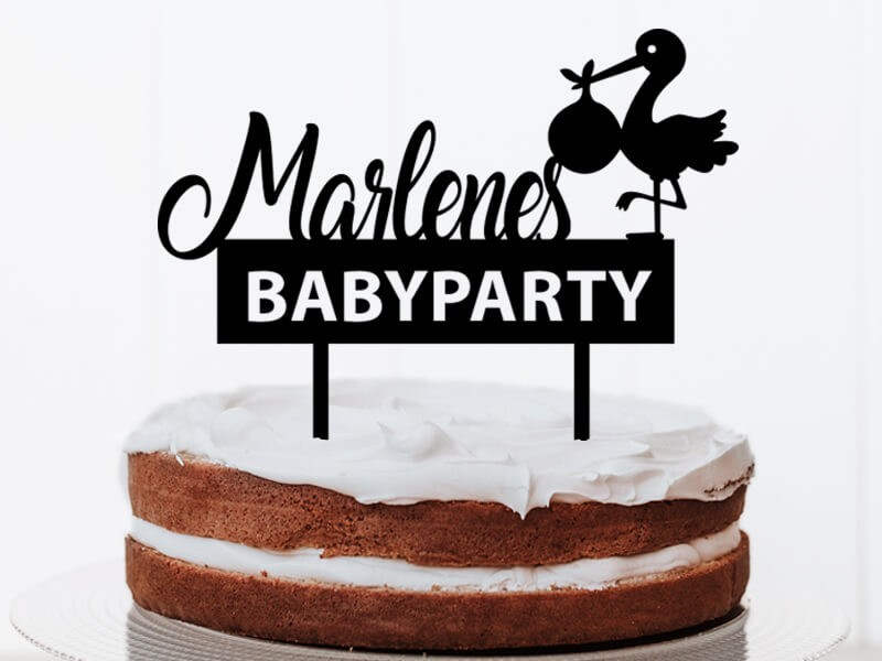 "Cake Topper ""Babyparty"" - 2"