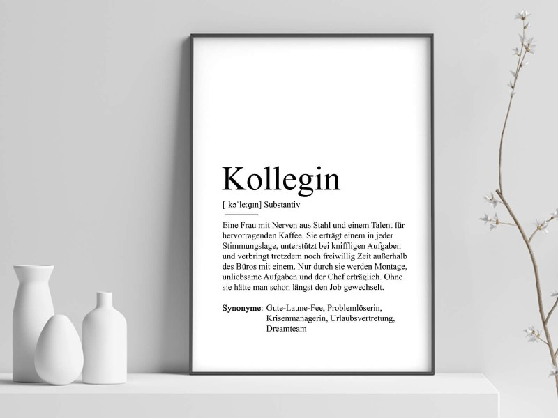 "Poster ""Kollegin"" Definition - 1"