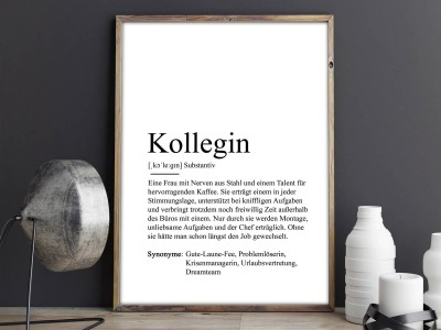 "Poster ""Kollegin"" Definition - 2"