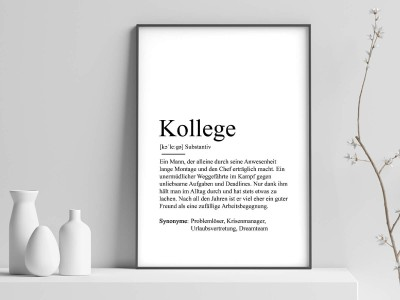 "Poster ""Kollege"" Definition - 1"
