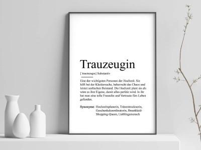 "Poster ""Trauzeugin"" Definition - 1"