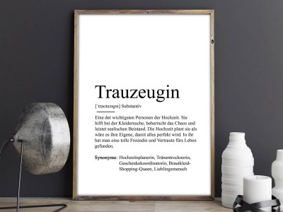 "Poster ""Trauzeugin"" Definition - 2"