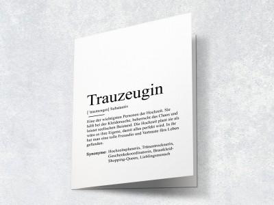 "Karte ""Trauzeugin"" Definition - 2"
