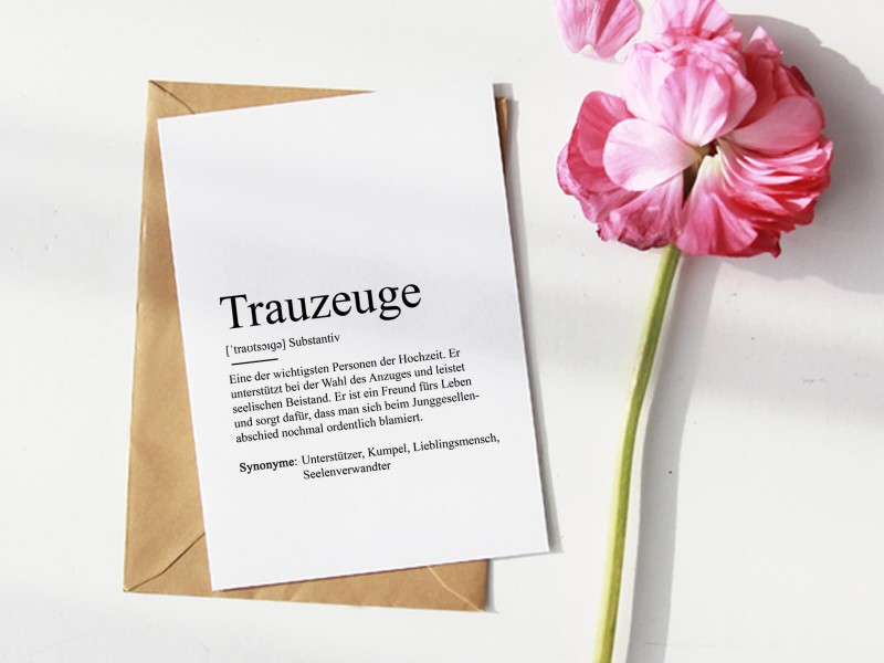 "Karte ""Trauzeuge"" Definition - 1"
