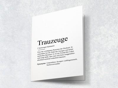 "Karte ""Trauzeuge"" Definition - 2"