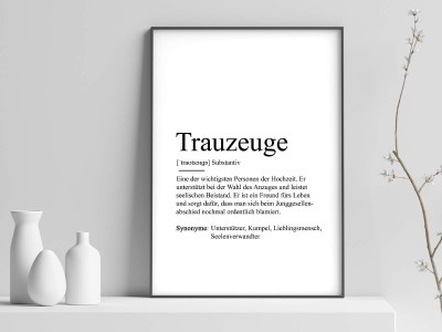 "Poster ""Trauzeuge"" Definition - 1"