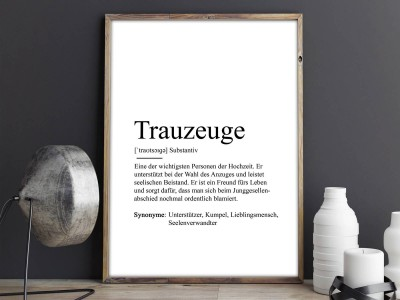 "Poster ""Trauzeuge"" Definition - 2"