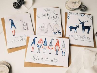 """4er Set Weihnachtskarten """"Scandinavian"""" - 2"""