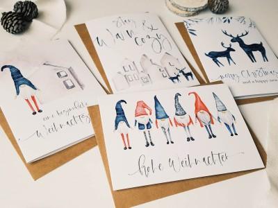 """4er Set Weihnachtskarten """"Scandinavian"""" - 3"""