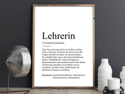 "Poster ""Lehrerin"" Definition - 2"