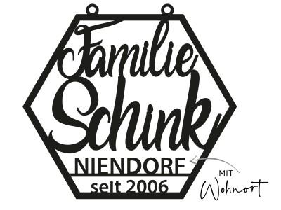 """Familienschild """"Schink"""" - 2"""