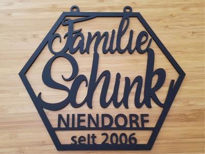 """Familienschild """"Schink"""" - 1"""