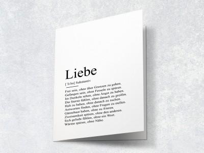 """Karte """"Liebe"""" Definition - 2"""