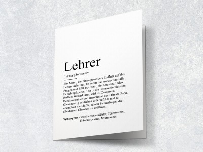"Karte ""Lehrer"" Definition - 2"