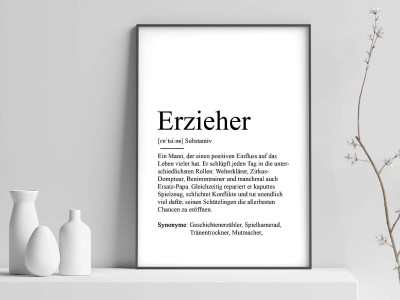 "Poster ""Erzieher"" Definition - 1"
