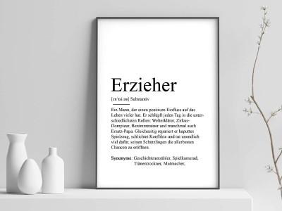 """Poster """"Erzieher"""" Definition - 1"""