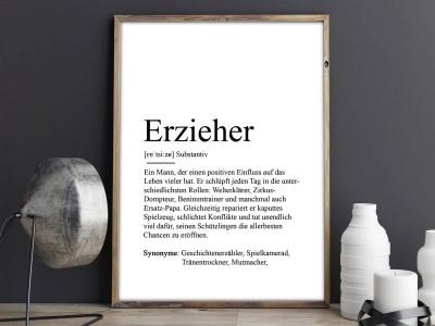 """Poster """"Erzieher"""" Definition - 2"""