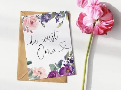 """Karte """"Oma"""" Blossom - 1"""