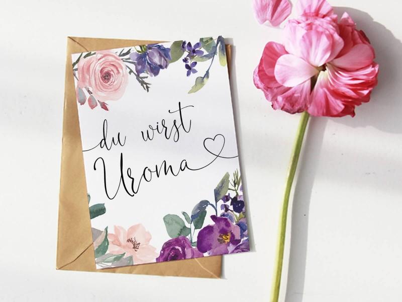 """Karte """"Uroma"""" Blossom - 1"""