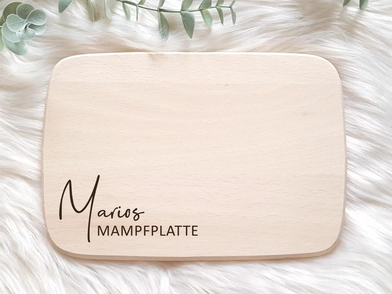 """Frühstücksbrettchen """"Mampfplatte"""" - 1"""