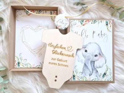 """Geldgeschenk Geburt """"Elefant"""" Jungen - 3"""