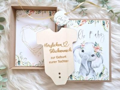 """Geldgeschenk Geburt """"Elefant"""" Mädchen - 4"""