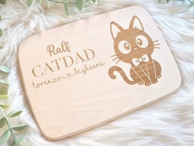 "Frühstücksbrettchen ""Catdad"" - 2"