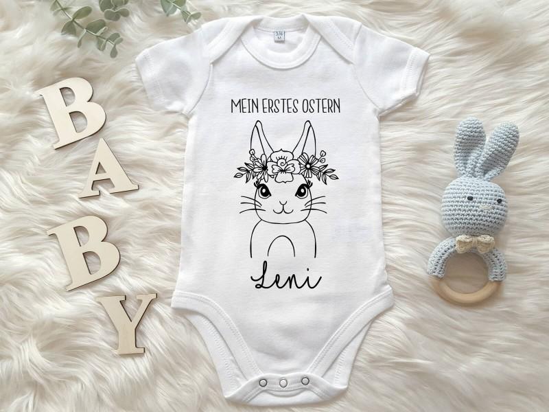 """Personalisierter Baby-Body """"Erstes Ostern"""" - 1"""