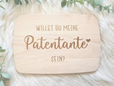 """Frühstücksbrettchen """"Patentante"""" - 1"""