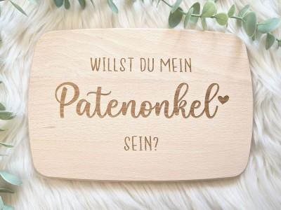 "Frühstücksbrettchen ""Patenonkel"" - 1"