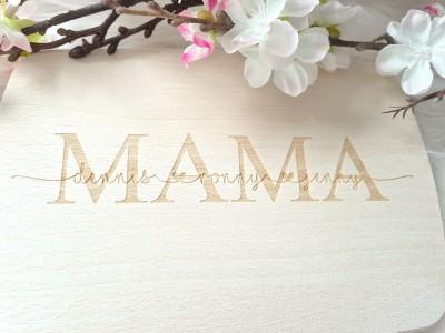 "Frühstücksbrettchen ""Mama"" - 3"