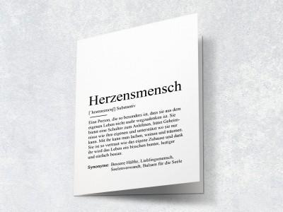 """Karte """"Herzensmensch"""" Definition - 2"""