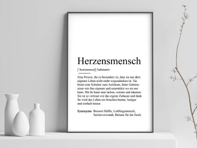 "Poster ""Herzensmensch"" Definition - 1"