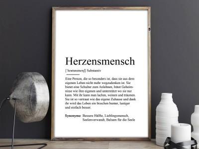 """Poster """"Herzensmensch"""" Definition - 2"""