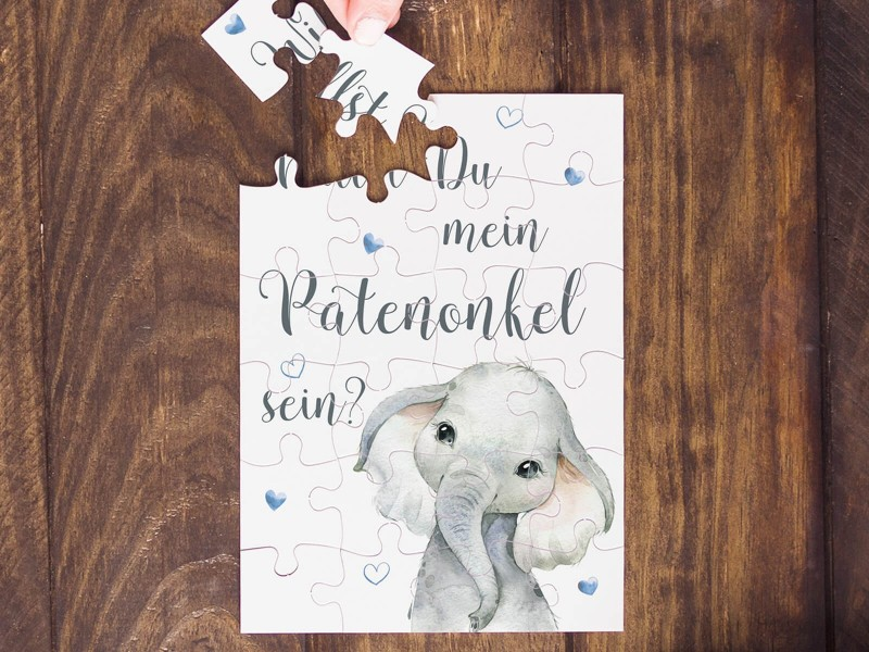 """Puzzle """"Patenonkel"""" Elefant - 1"""