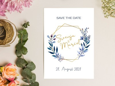 "Save-the-Date Karte ""Elegance"" - 1"