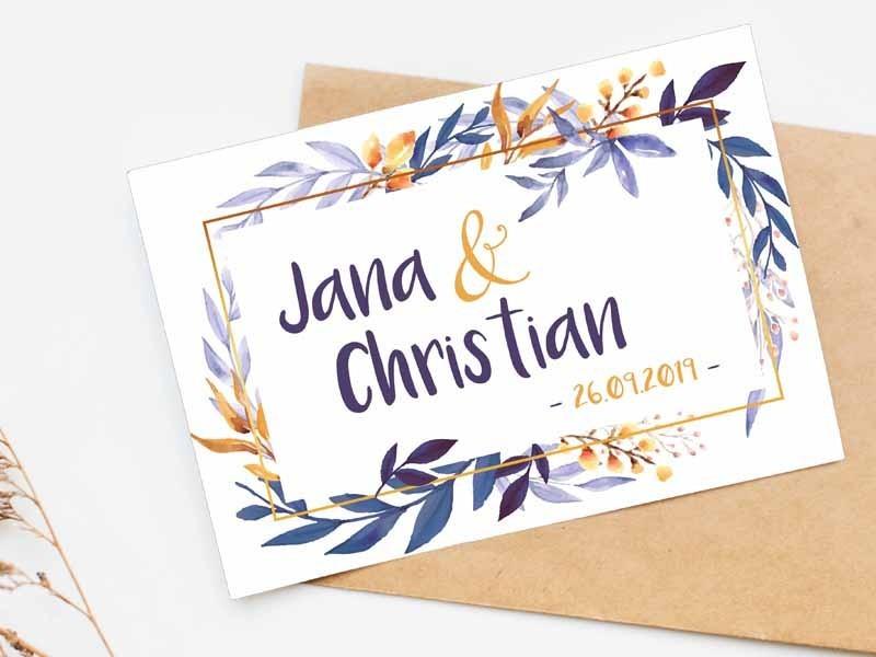 """Einladung Hochzeit """"Watercolor"""" - 1"""