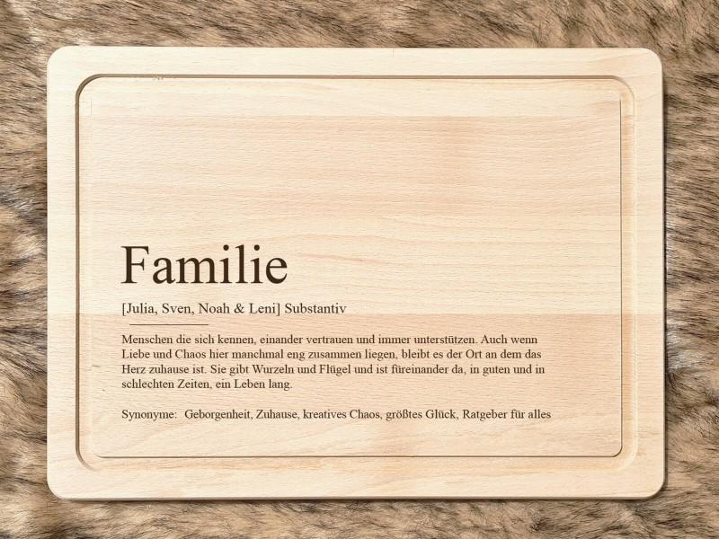 """Schneidbrett """"Familie"""" Definition - 1"""