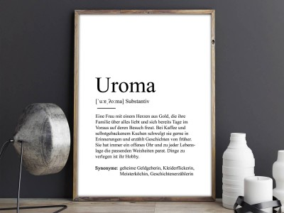 """Poster """"Uroma"""" Definition - 2"""