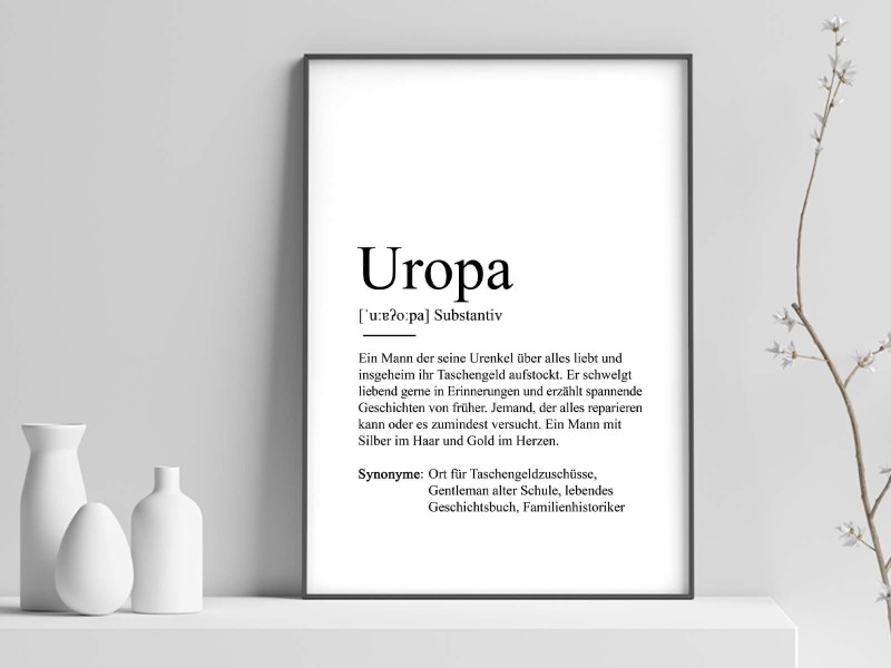"""Poster """"Uropa"""" Definition - 1"""