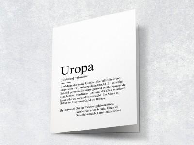 "Karte ""Uropa"" Definition - 2"