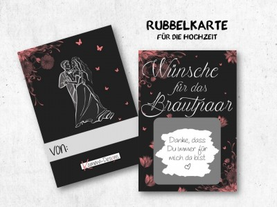 """25x Rubbelkarten """"Wünsche für das Brautpaar"""" - 2"""