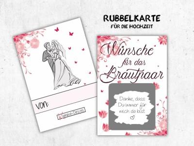 """25x Rubbelkarten """"Wünsche für das Brautpaar"""" - 3"""